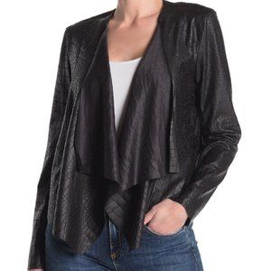 NWT Blank NYC Faux Crocodile Drape Leather Jacket
